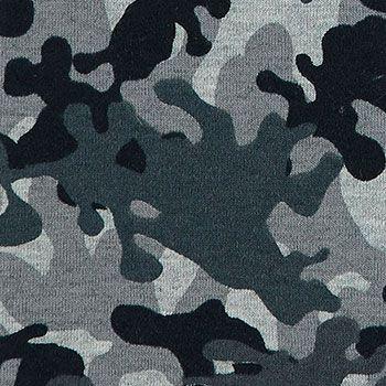 Stretch+jersey+grå+melange+camouflage
