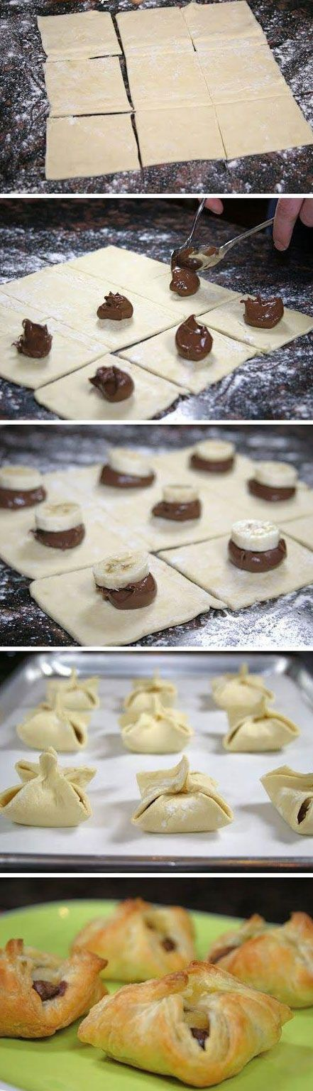 Pyszne ciasteczka z bananem i nutellą