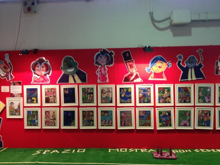 La mostra de La notte dei giocattoli di Dacia Maraini e Gud a @Napoli COMICON #fumetti #tipitondi #ragazzi