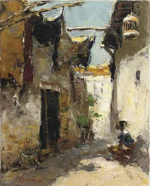 Soerabaia, Kampong steeg, Gerard Pieter Adolfs. Dutch (1897 - 1968)