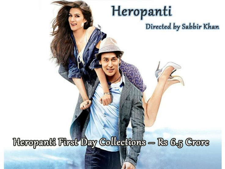 """Tiger Shroff's movie """"Heropanti"""" has collected Rs 6.5 crore on its opening day. The film is produced by Sajid Nadiadwala and directed by Sabbir Khan."""