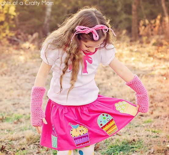 Add some sweetness to your daughter's wardrobe with this cupcake-inspired skirt tutorial. This tutorial for how to make a girls' skirt is great for beginners.