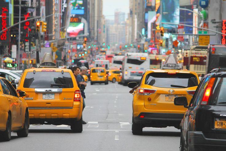 Gula taxibilar #USA #Travel #Resa #Resmål #New #York #NewYork #CIty #NYC #NewYorkCity #Yellow #Cab #Taxi #Gul
