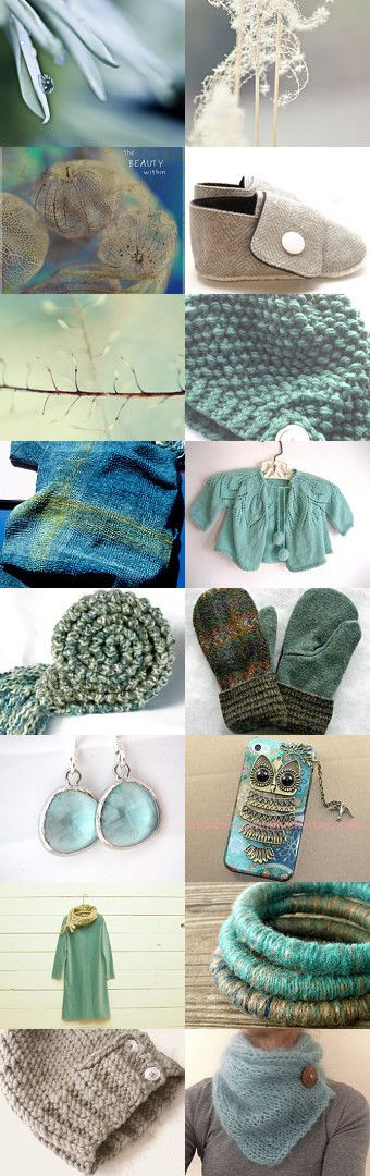 Winter Happiness by Beverly Ash Gilbert on Etsy--Pinned with TreasuryPin.com Repin if you love soft teal and beige!