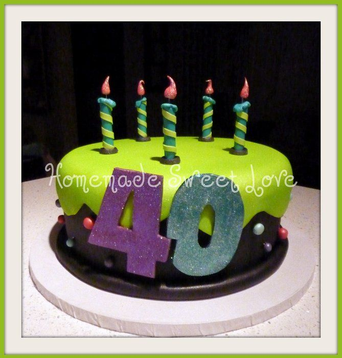 103 Best Images About 40th Birthday Cakes On Pinterest