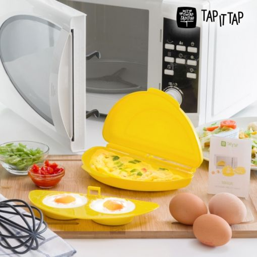 Enjoy the most delicious tortillas with the help of the practical and handyTap It Tap microwave omelette maker! Save time and effort in the kitchen