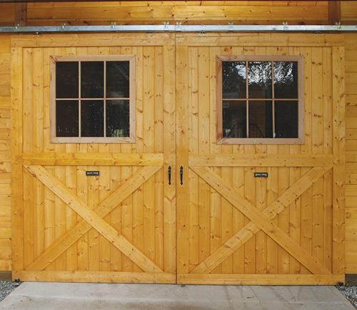 Large T&G Breezeway Barn Door with Window, W/Hardware available online at Barn Pros
