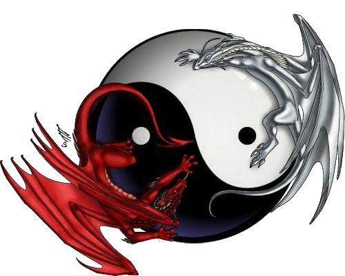 Yin Yang dragons