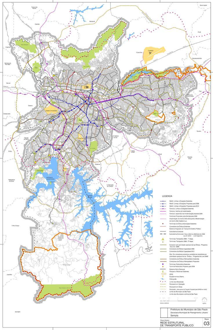 Public Transport Structural Network http://www.zonu.com/brazil_maps/Sao_Paulo_City_Public_Transport_Structural_Network_Map_Brazil_2.htm