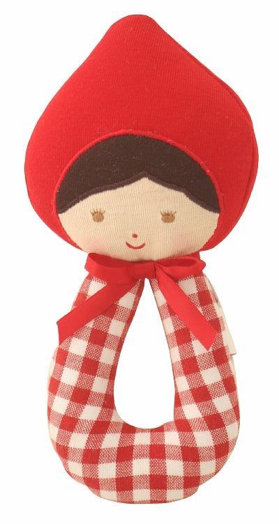 Alimrose Red Riding Hood wand rattle    www.alimrose.com.au