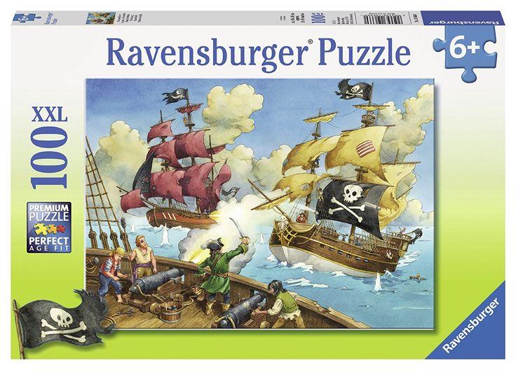 Ravensburger - Puzzle La bataille des pirates 100 pièces: Amazon.fr: Jeux et Jouets