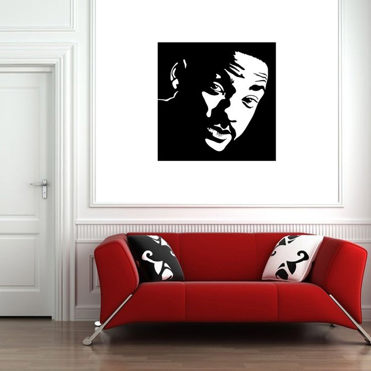 Will Smith Portrait Wall Decal  The red carpet isn't too far away when you have this amazing Will Smith Portrait Wall Decal in your home. Featuring the action movie superstar in a sleek profile headshot, this design is modern and chic. Whether you're a fan of The Fresh Prince of Bel Air or Wild, Wild, West, any Smith fan will absolutely love this decal.