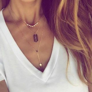 Rose Gold Layering Necklace | Stella & Dot Get yours at www.stelladot.com/melissankaufman