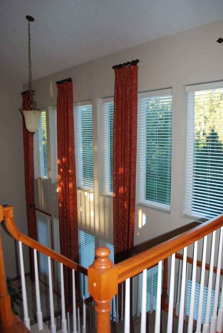 Atrium Window Panels With Rod And Rings Tall Or 2 Story