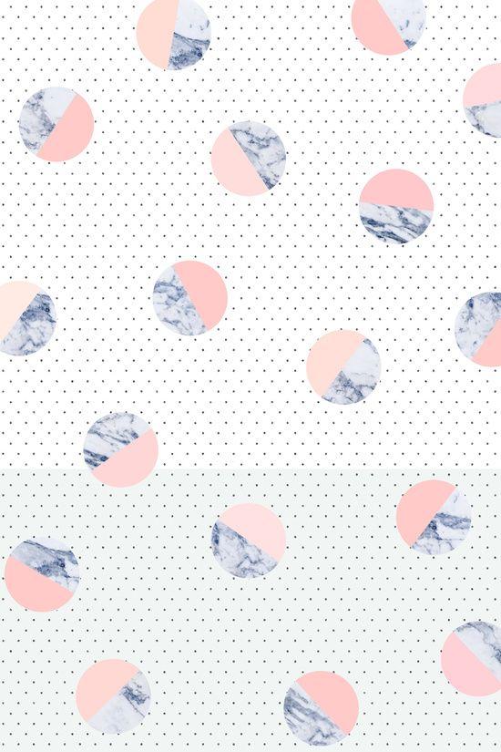 Marble print, polka dots