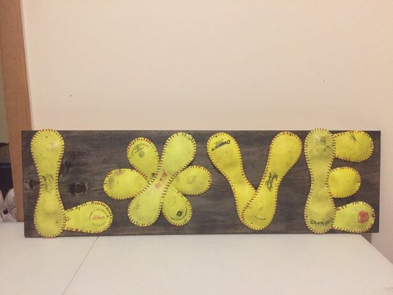 Softball love sign by MearsCreations on Etsy