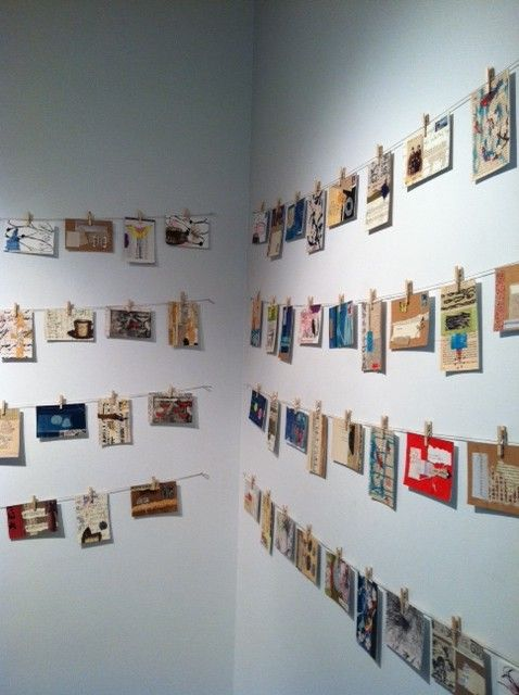 collection of handmade postcards
