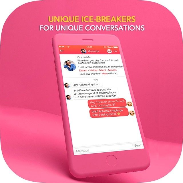 Do you tend to get awkward if you find someone attractive? Don't stress! #wangoapp gives you conversation starters and ice breakers to start chatting with your potential match. Stress less. Date more ❤️