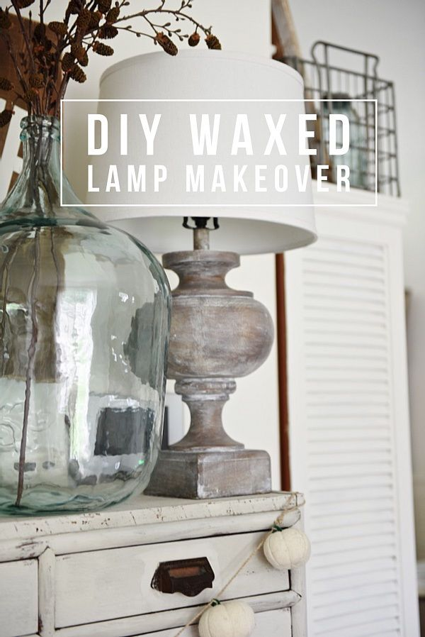 An easy way to update your lamps! A must pin for future home decor updates - DIY wax tutorial.