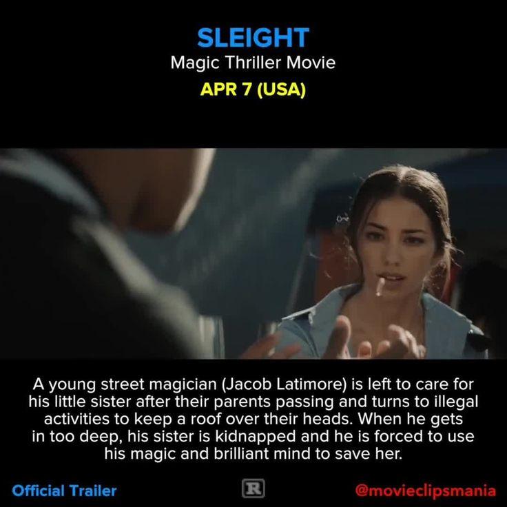 SLEIGHT A young street magician (Jacob Latimore) is left to care for his little sister after their parents passing and turns to illegal activities to keep a roof over their heads. When he gets in too deep, his sister is kidnapped and he is forced to use his magic and brilliant mind to save her.  Director: J.D. Dillard Writers: J.D. Dillard (as Jd Dillard), Alex Theurer Stars: Jacob Latimore, Seychelle Gabriel, Dulé Hill Reposted Via @movieclipsmania