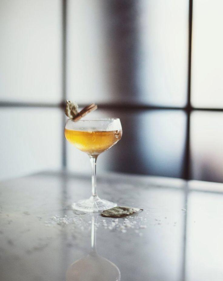 Created on laurel liqueur, gin and a pinch of salt. Bortenfor, Oslo.   #harahorn #harahorngin