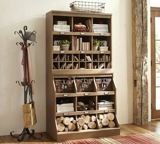 These Pottery Barn cubbies might be interesting in my studio, but could I keep them looking neat enough?