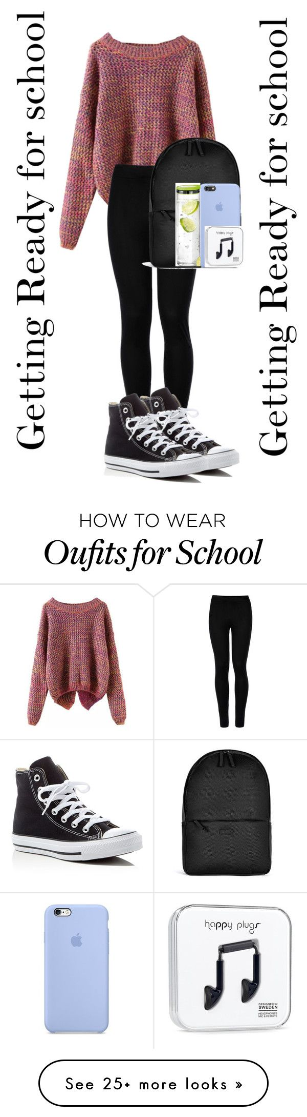 """""""I hate school honestly ☹️"""" by jasloves5sos on Polyvore featuring Wolford, Converse, Rains and blomus"""