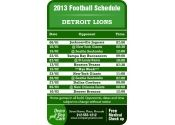 3.5x2.25 in One Team Detroit Lions Football Schedule