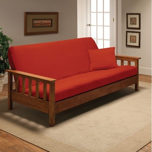 Madison Home Stretch Jersey Full Futon Cover in Tangerine $35