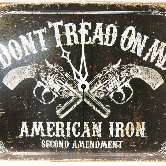 Dont Tread On Me Clock Unique Wall Clocks American Iron, Second Amendment, Gun Clock, Brother Gift, Father Gift, Boyfriend Gift  with ♥ from JDzigne…