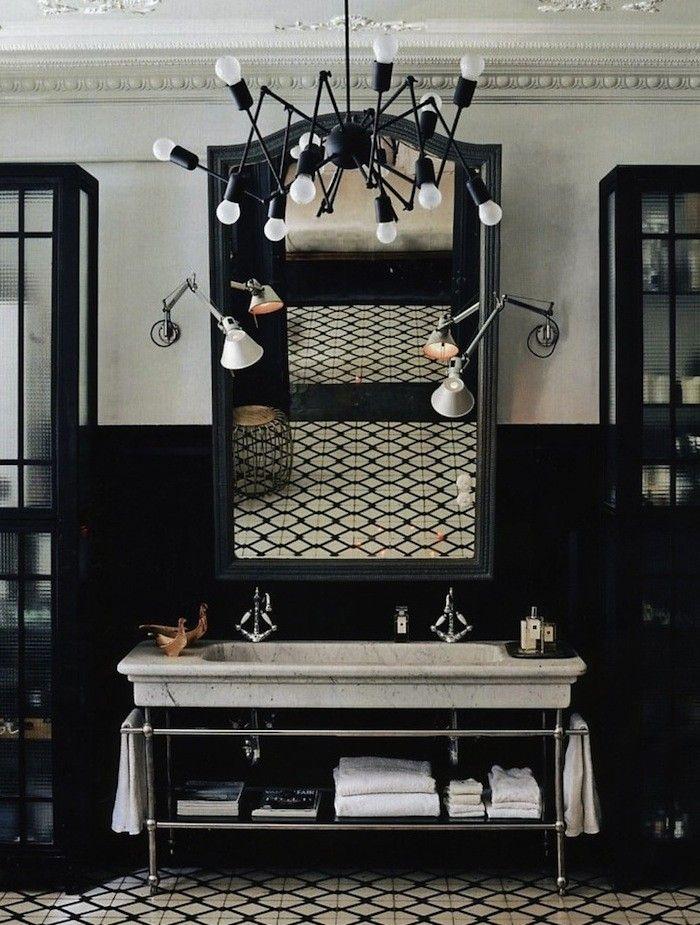 Black and White Deco Bathroom | Remodelista