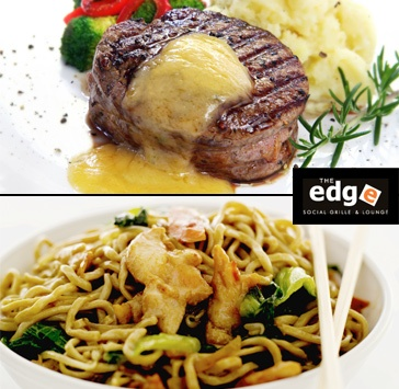 $29 for Three-Course Dinner for Two People at The Edge Social Grille & Lounge (Value up to 78)    http://www.socialshopper.com/vancouver_2257