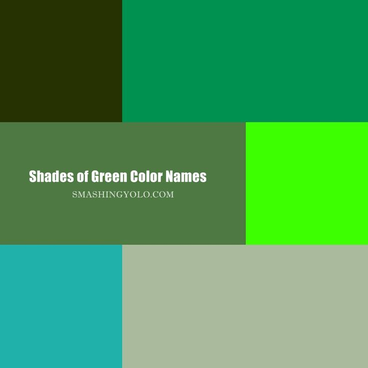 20 #Shades of Green Color Names: For #Designers