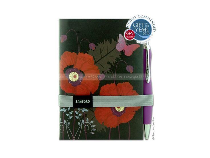 Santoro - zápisník + propiska Gorjuss - Poppies