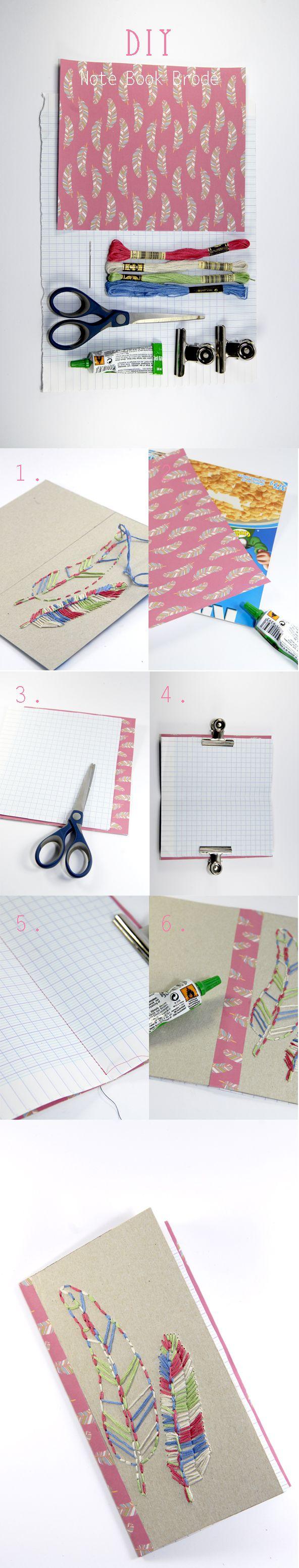 Tuto comment faire un petit carnet en carton recyclé
