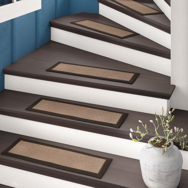 Jacobson Dark Brown Stair Tread Stair Treads Stairs Carpet   Cheap Carpet Stair Treads   Carpet Runners   Wall Carpet   Wool Carpet   Rugs   Stair Runner