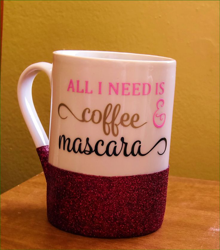 Coffee and Mascara Mug - Motivational Coffee Mug - Personal Gift Mug - Funny coffee mug - Teacher Gift - Boss Gift - Coffee Lover Gift - by Nanniescraftynook on Etsy