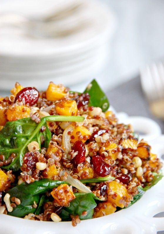 The Kitchen McCabe: Vegan Warm Roasted Butternut Squash and Quinoa Salad