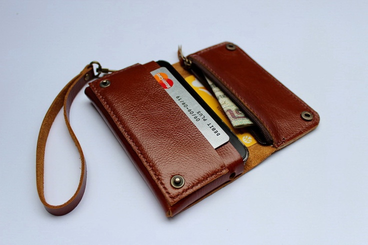 Leather Passport Case - Merging Shapes by VIDA VIDA qJQxVOXhM