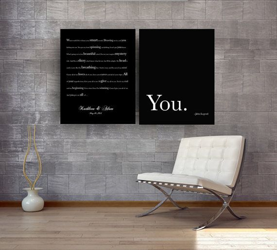 All of Me, John Legend Song Lyrics on canvas Song lyrics wall art gifts for bride, groom gift for newlyweds, anniversary gift for boyfriend