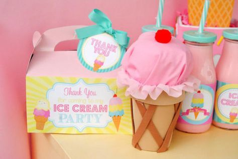 Ice Cream Party  Centerpiece  Ice Cream Cone by PoppiesAndPumpkins