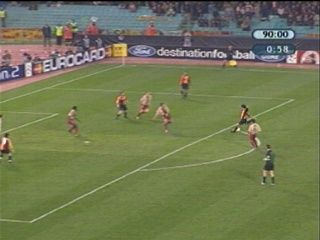 AS Roma 3 Barcelona 0 in Feb 2002 at Stadio Olimpico. Damiano Tommasi strikes to make it 3-0 on 45 minutes in the Champions League group stage game.