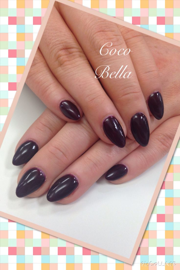 Cherry berry Gelish on gel nails. Coco Bella nail bar