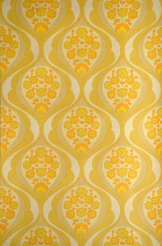 Original Vintage Tapeten : Yellow Wallpaper