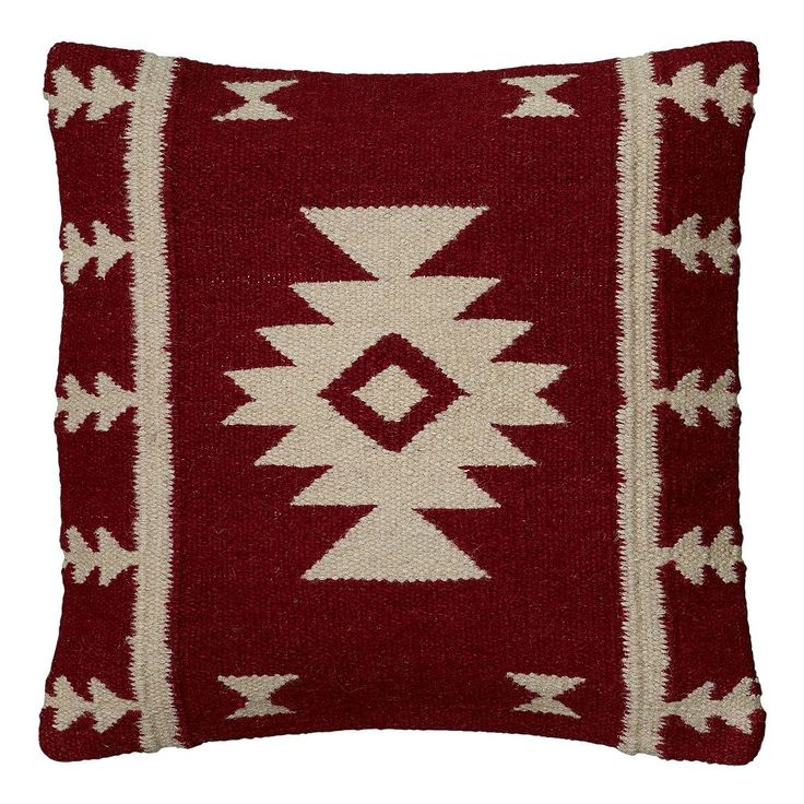 Rizzy Home Southwestern Throw Pillow, Red