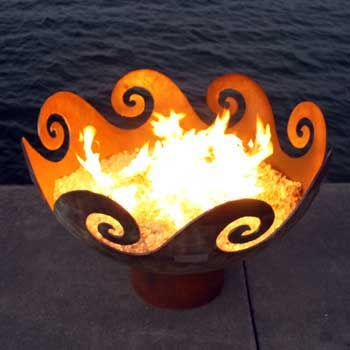 Cool fire pit ideaFire Pits, Backyards Style, Art Design, Fire Bowls, Garden Sculptures, Backyards Ideas, Fire And Water Pit, Firepit, Christmas Gifts