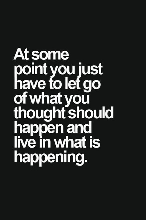 let go and live