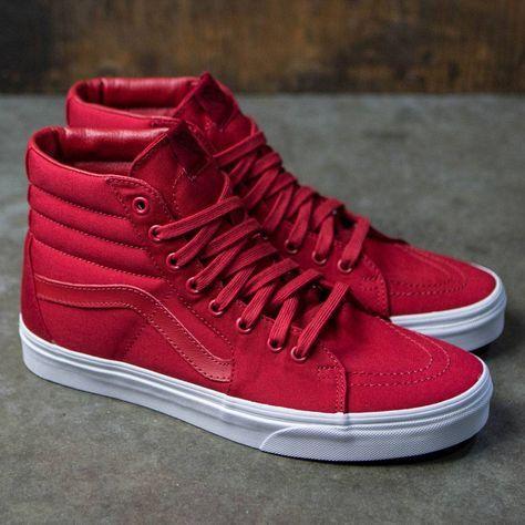 687bb88f3c5 Vans Men Sk8-Hi - Mono Canvas (red)