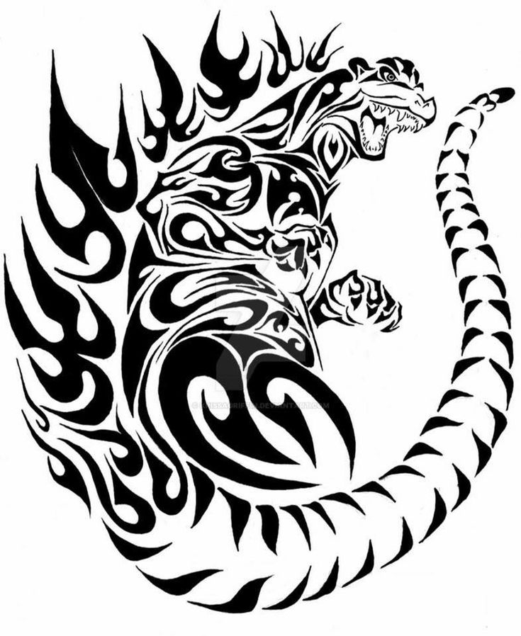 Godzilla tattoo art