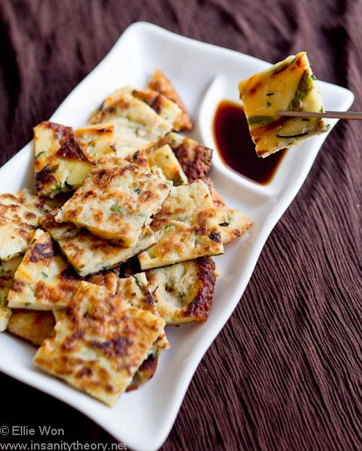 Korean zucchini pancakes (hobak jeon) from Insanity Theory